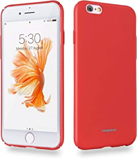 Roopose Phone Protective Case Ultra Thin Slim Skin Touch Feel Hard Cover Protect Bumper Fit Phone Shell Case Compatible with iPhone 6/6s (Red)