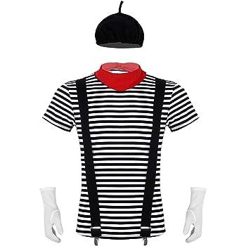 ranrann Disfraz de Mimo Artista para Hombre Mujer Cosplay Francés ...