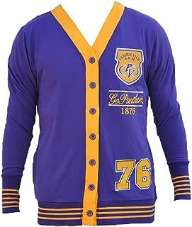 Prairie View A&M Cotton/Spandex Cardigan Black College Fraternity HBCU Mens Sweater Jacket