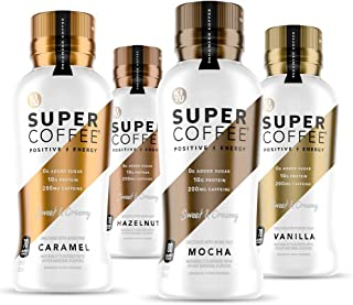 Kitu Super Coffee, Iced Keto Coffee (0g Added Sugar, 10g Protein, 80 Calories) [Variety Pack] 12 Fl Oz, 12 Pack | Iced Cof...