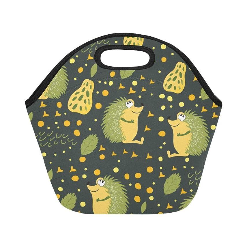 導体マイコン卑しいJLDG ランチバッグ ハリネズミや果物 弁当袋 お弁当入れ 保温保冷 トート 弁当バッグ 大容量 トートバッグ