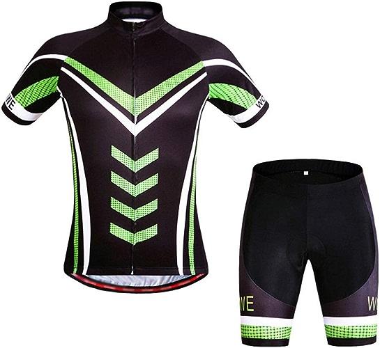 Maillot de cyclisme Maillot de vélo unisexe femmes hommes costume à hommeches courtes VTT vêteHommests de vélo gel rembourré route chemises de vélo ensemble pour le sport en plein air à vélo