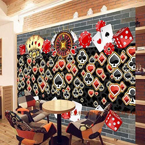 Individuelle fototapeten 3D stereo nostalgie große tapete wandbild KTV Bar Cafe tee shop lounge schach poker wallpaper, 300 * 210