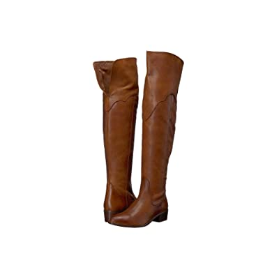 Frye Ray Over the Knee (Cognac Polished Soft Grain) Women