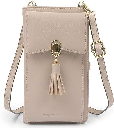 ae677d8c5ecd Women Rfid Blocking Credit Card Wallet Purse Cell Phone Crossbody Small Bag