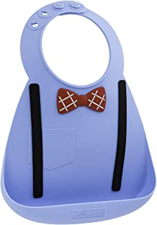 Make My Day Baby Bib Scholar, Blue/Red/Black