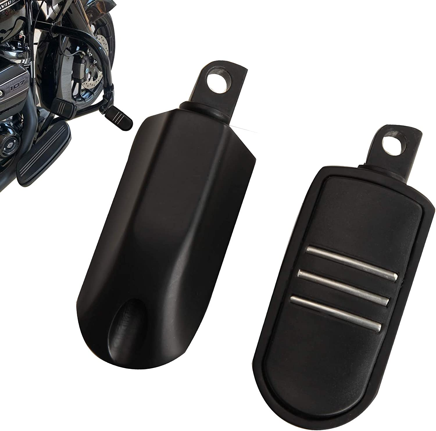 Black Motorcycle Cash special price Highway SALENEW very popular Foot Pegs Tour Footrest Compatible With