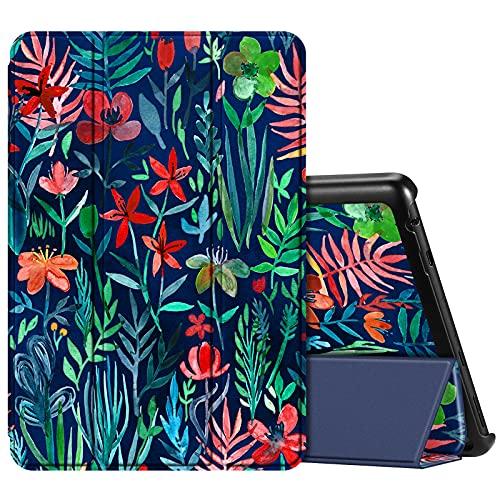 Fintie Hülle Kompatibel mit Das Neue Fire HD 10 & Fire HD 10 Plus Tablet (11. Generation, 2021) - Superdünne Leichte Schutzhülle mit Auto Schlaf/Wach Funktion, Dschungelnacht