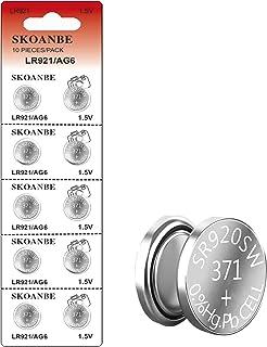 SKOANBE 10PCS 1.5V 371 370 SR920SW LR921 AG6 Button Coin Cell Watch Battery