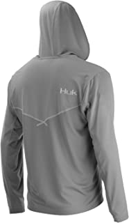 Huk Men's Icon X Hoodie | Long-Sleeve Performance Shirt with UPF 30+ Sun Protection