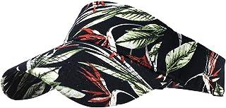 Sommer Sonnencap Frauen Golf 54-60 cm Tennis oder Freizeit - unifarbene Sonnenblende aus 100/% Baumwolle mit Frotteeband FRAUIT Unisex Visor Blattdruck Cap Sport Cap mit Schirm in One Size
