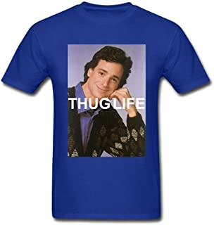 Bob Saget: Thug Life Full House Round Collar Royal Blue T Shirts Mens M