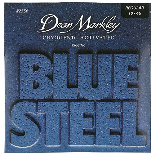 Dean Markley Blue Steel Electric Guitar Strings, 10-46, 2556, Regular