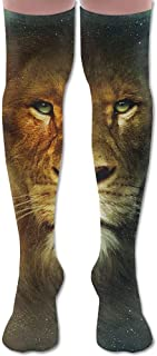 Space Star Lion Art University Unisex Knee Thigh Calcetines