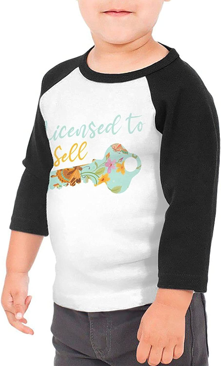 Licensed to Sell Real Estate Realty T-Shirts Novelty for Youth Tees with Cool Designs