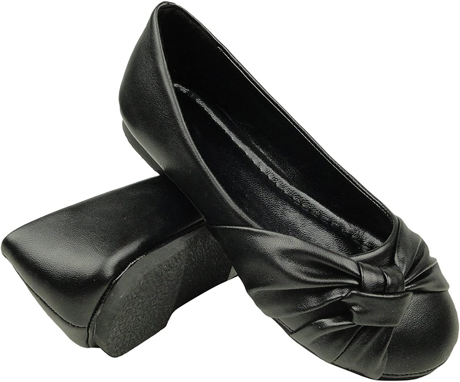 TG By KSC Little Girl's Slip On Knotted Ballet Flat Casual Comfort shoes Sizes 9-4 Black