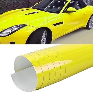 LENASH 1.52 × 0.5 متر السيارات التفاف السيارات التفاف فيلم كريستال PVC PVC PVC PVC PVC تغيير اللون (اللون: كريستال ليموني ...