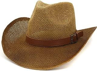 Sun Hat for men and women New Men Women Paint Straw Cowboy Hat Outdoor Seaside Visor Thick Belt Fashion Beach Hat Sunbonnet