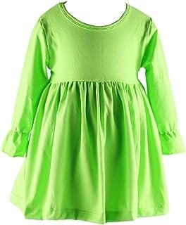 Wennikids Little Baby Girls' Long Sleeve Cotton Ruffle Top Dress
