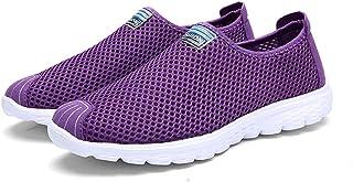 AIRAVATA Zapatos para Hombres/Mujeres de Verano Ligero Slip-On Malla Transpirable Soft Sole Sports Zapatillas
