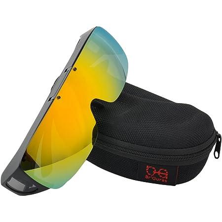 Br'Guras オーバーグラス 偏光サングラス メガネをかけたまま対応のサングラス 跳ね上げ式 UV400 紫外線カット サイクリング、釣り、ランニング、野球 格好いいサングラス