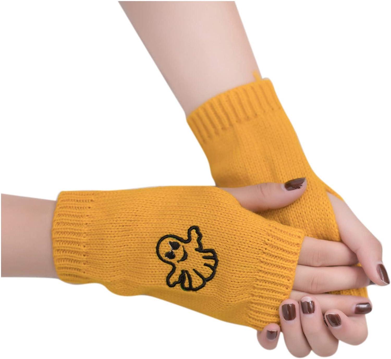 Fuumiol Fingerless Gloves - Stretchy Unisex Half Finger Touchscreen Fingerless Half Finger Knit Gloves