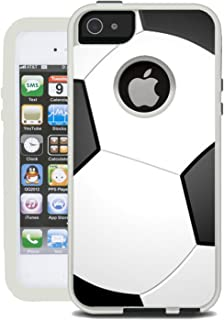 Teleskins Protective Designer Vinyl Skin Decals/Stickers for Otterbox Commuter iPhone 5S / 5 / Se Case - Soccer Design Patterns - only Skins and not Case