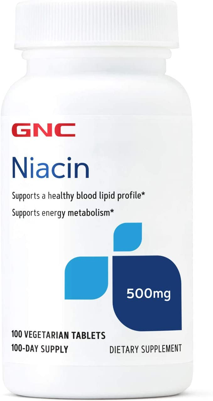 GNC Niacin 500mg 100 Tablets Max Some reservation 64% OFF Health Blood Supports Vessel