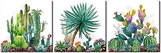 JiazuGo - Watercolor Cactus Wall Art Green Tropical Desert canvas painting decor 12