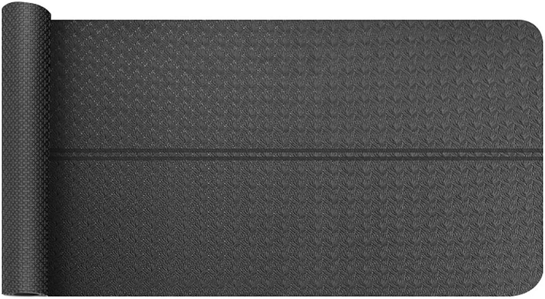 LiuJianQin YJD Yogamatte Rutschfeste Anti-Schwei Outdoor-Sport-Fitness-Matte TPE geschmacklos erweitert Plus Dicke Yoga-Matte Tanzmatte   185  80cm (Farbe   A)