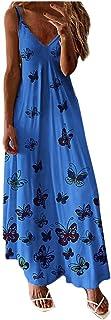 Maxi Dress for Women,KYLEON Womens Casual Summer Sundress Sleeveless Gradient Floral Loose Long Dresses Tunic Tank Dress
