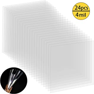 24Pcs 4mil Blank Stencil Material Clear Mylar Template Sheets for Making Craft Cutting Patterns Stencil, 12 x 12 Inches Acetate Film Plastic Sheets