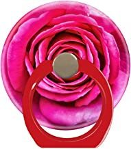 Cell Phone Ring Holder Cellphone Finger Stand 360 Degree Rotation Work for iPhone X 6 7 8 Plus S8 S9 Smartphone Ipad-hot Pink Rose