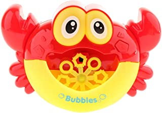 Baosity Automatic Crab Bubble Machine Outdoor Party Funny Music Toys for Toddlers