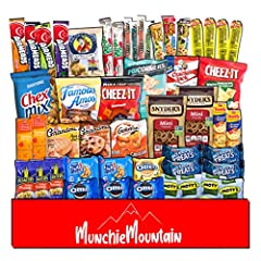 QUALITY SNACKS: This 50 count care package includes a variety of snacks such as chips, cookies, candy, popcorn, and crackers. The snack box contains individually wrapped snacks so you don't have to worry about sealing or storing them after opening. S...