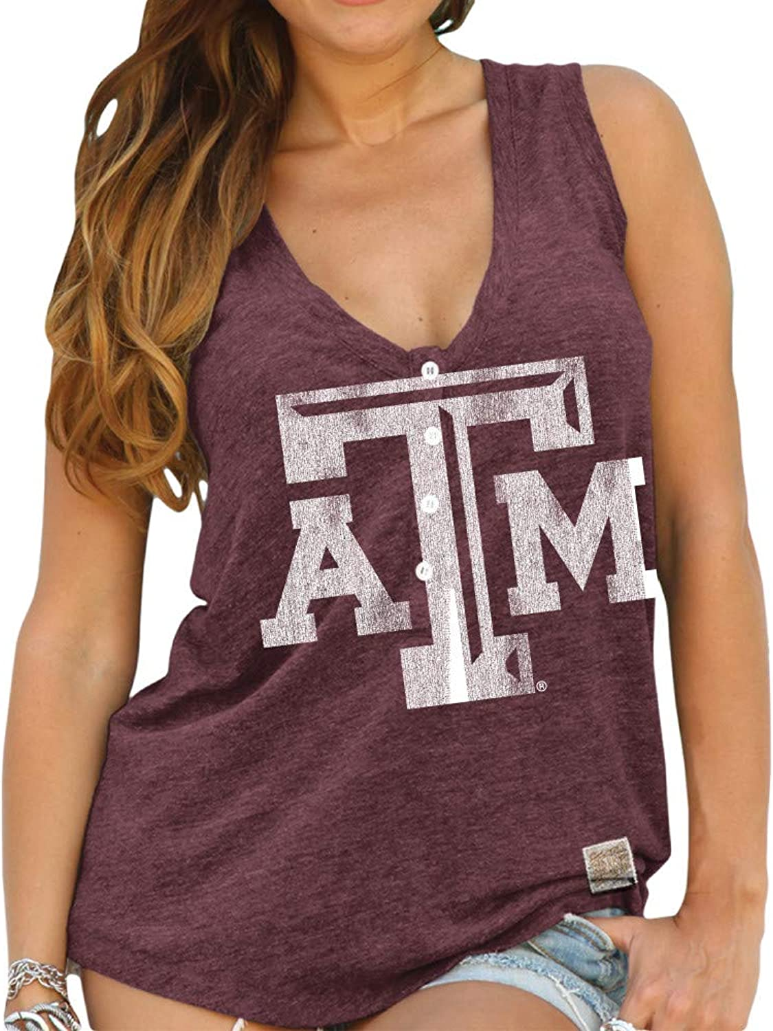 Elite Fan Shop NCAA Women's Relaxed Henley Tank