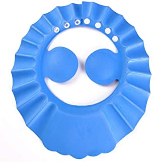 Auma Soft Adjustable Baby Shower Safe Protection Cap - Cute Leak Proof Children Shampoo Bath Bathing Wash Hair Shield Hat ...