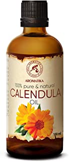 Calendula Oil 3.4oz 100ml - Calendula Officinalis Flower Extract – Infused - Almond Oil Base - 100% Pure & Natural - Marig...