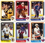 1986 / 1987 Topps Hockey Complete Near Mint Hand Collated 198 Card Set. Loaded with Stars Including Patrick Roy's Rookie Card, Mario Lemieux, Steve Yzerman, ... rookie card picture