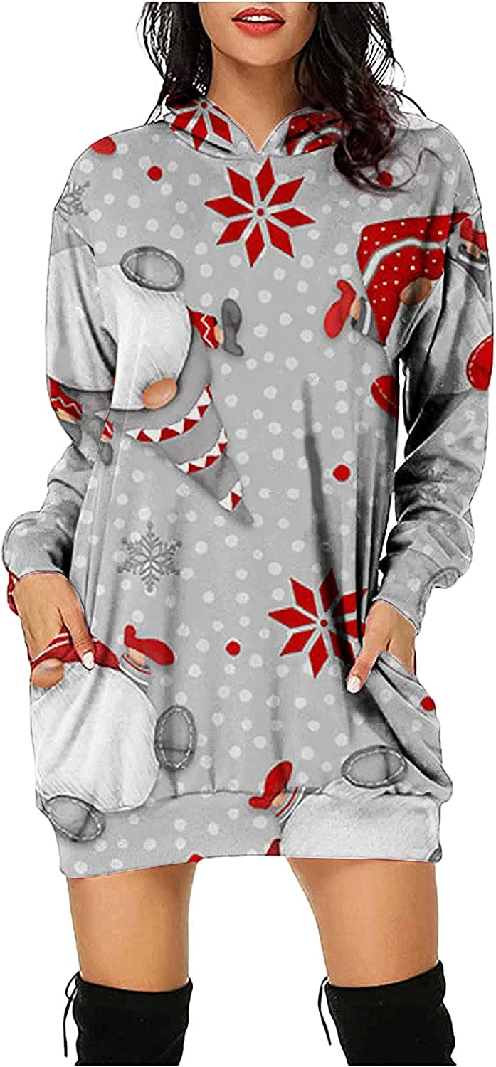 Muugo Long Sleeve Dress for New popularity Women Casual Funny New product Fit Pullover Comf