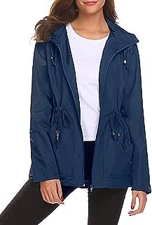 BBX Lephsnt Rain Jacket Women Waterproof with Hood Lightweight Raincoat Outdoor Windbreaker S-XXL
