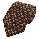 PenSee Novelty Motocross Race Necktie Motorcycle Jacquard Ties for Mens