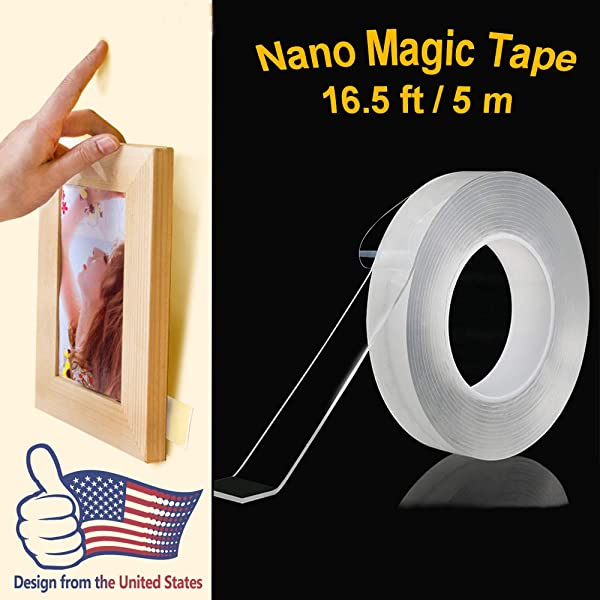 16 5Ft Traceless Washable Adhesive Tape Deartisan American Design Thicker And Time Longer Reusable Multi Purpose Magic Tape For Picture Painting Office Home
