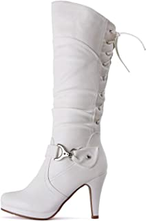 66baed1149da Guilty Heart Women s Knee High High Heel Almond Toe Winter Fashion Boots