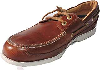 9d9cb53c394 Rockport Mens Jeffrey Bay 2 Eye Leather Loafers Brown Size 8 M