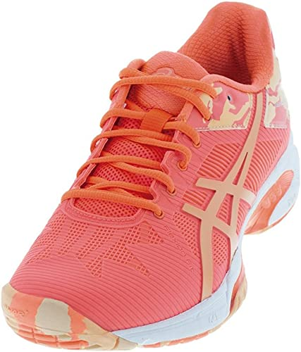 ASICS Wohommes Gel-Solution Speed 3 L.E. Flash Coral Canteloupe Apricot Ice 11.5 B US