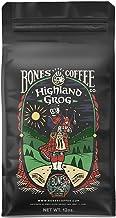 Bones Coffee Company Flavored Coffee Beans, Highland Grog Ground Coffee Beans, Low Acid Medium Roast Gourmet Coffee Beans ...