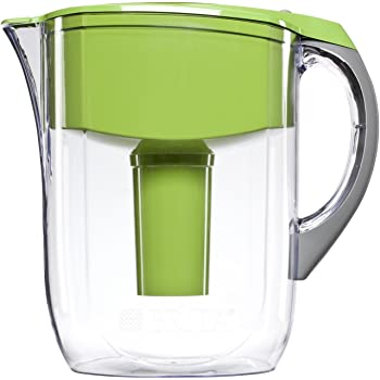 Brita Large 10 Cup Water Filter Pitcher with 1 Standard Filter, BPA Free – Grand, Green - 35940