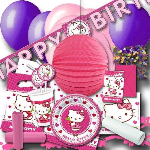 Hello Kitty Partyset XXL - Partygeschirr & Partydeko im Sparset