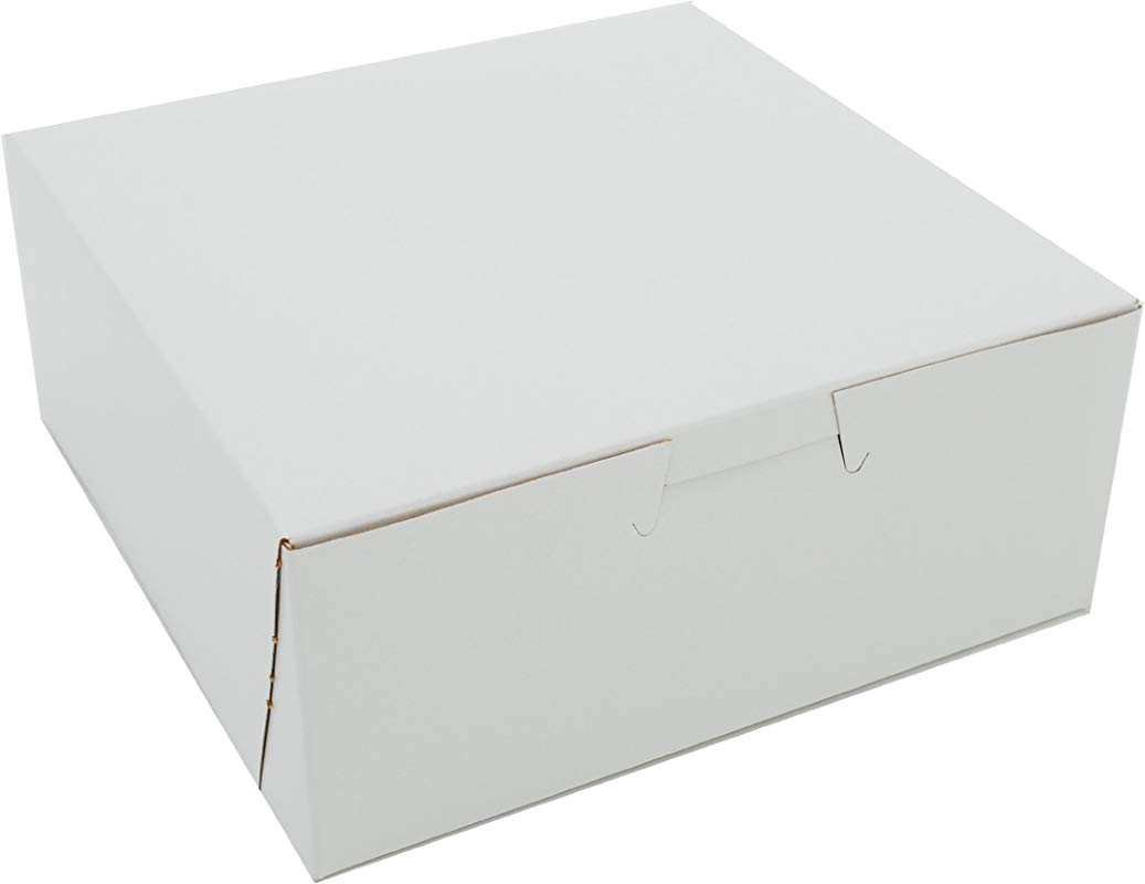 Southern Champion Tray 0901 Premium Clay Coated Kraft Paperboard White Non Window Lock Corner Bakery Box 6 Length X 6 Width X 2 1 2 Height Case Of 250